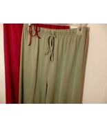 Wome M L 12 14 Pajama Pants Robe Long Pull On Sleep Loung Wear Elastic W... - $12.38