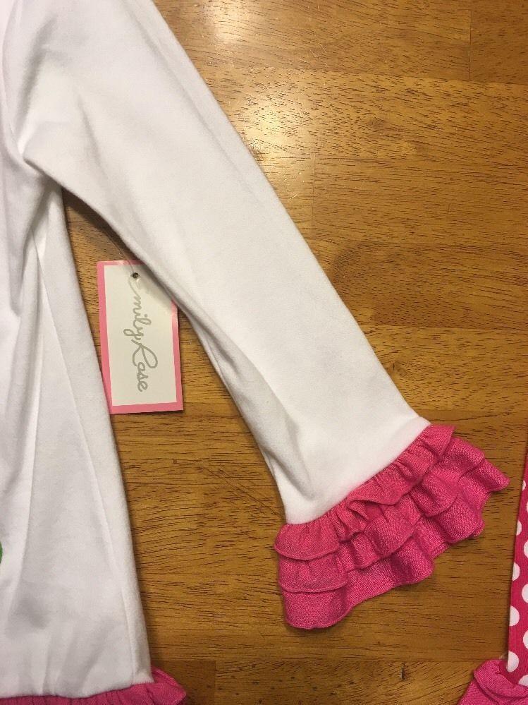 Emily Rose 2 Piece Long Sleeve Shirt /& Leggings w//Ruffles Brown