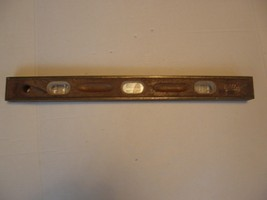 "MAYS VINTAGE ANTIQUE BRASS AND WOOD CARPENTRY LEVEL 24"" - $29.69"