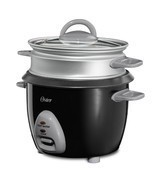 Oster 6-Cup (Cooked) Rice Cooker with Steam Tray - Black - $630,67 MXN