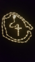 STUNNING HEAVY VINTAGE STERLING ROSARY!                   SOLD - $95.00