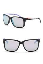 NWT Prada Sunglasses PS03TS 1B140 Black Rubber/Multicolor Mirror Lens UNISEX - $204.47