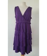 New York & Company Purple Stretch Dress Sizes XL - $27.72