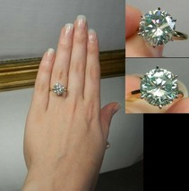 Certified 2.35Ct Round White Solitaire Diamond Engagement Ring in 14K Wh... - $263.05