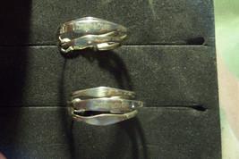 vintage tiffany and co sterling silver pierced earrings triple hoops GUC pre own - $75.00