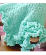 Mint Green Hand Crocheted Baby Blanket - $50.00
