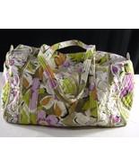 VERA BRADLEY Portobello Road Large Luggage Duffel Bag Purple Green Multi... - $44.99