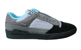 WeSC Mens Black Dark Shadow Gray Turquoise Emerson Stash Graffiti NY Shoes image 2