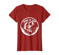 Born To Fish Funny Fisherman Big Mouth Bass T-Shirt - $19.99+