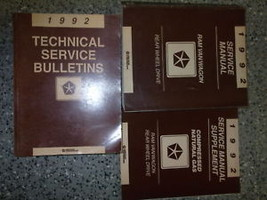 1992 Dodge Ram Van Wagon Service Repair Manual SET W Tech Bulletins RWD ... - $247.45