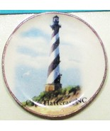 DOLLHOUSE Plate Cape Hatteras Lighthouse CDD23H By Barb Wall Art Miniature - $5.12