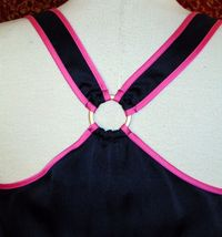 JUICY COUTURE Navy satin sleeveless tank blouse M (T41-03F8G) image 5