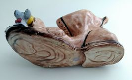 """Capodimonte 10"""" long Old Folley Shoe w/ Mouse In the Toe Made in Italy  image 9"""