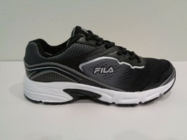 Fila Size 7.5 MEMORY RUNTRONIC SLIP RESISTANT Black Sneakers New Womens ... - $98.01