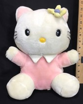 "Sanrio Hello Kitty 12"" Plush Pink Body Collar Flower Stuffed Animal Vint... - $27.95"
