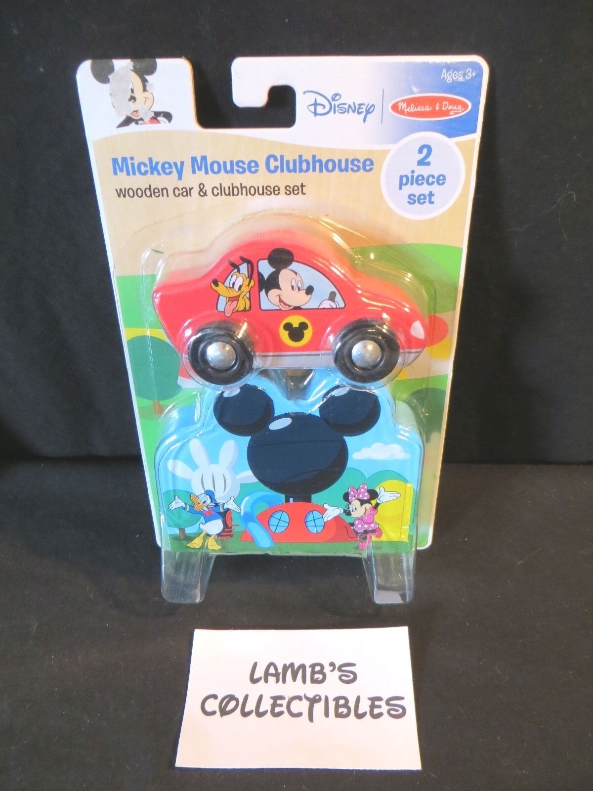 Primary image for Melissa and Doug Disney Mickey Mouse wooden clubhouse & car 2 piece set #7683