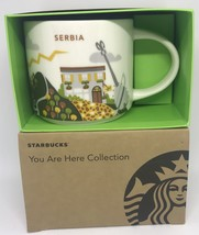 Starbucks You Are Here Collection Serbia Ceramic Coffee Mug New With Box - $46.52