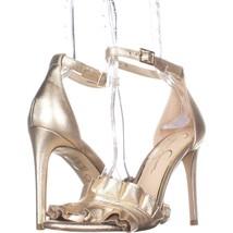 Jessica Simpson Silea Ankle Strap Sandals, Gold, 8 US / 38 EU - $35.51