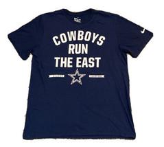 "Nike Dallas Cowboys ""Cowboys Run The East"" Tee Size XL Athletic Fit Blue - $12.86"