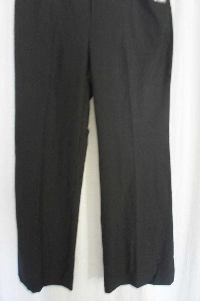 INC International Concepts Dress Pants Sz 16 Deep Black Wide Leg Regular Fit   image 2