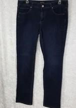 White House Black Market Noir Size12R Slim Leg Embroidered 5 Pocket  - $23.36