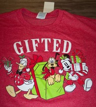 Walt Disney Christmas Mickey Mouse Donald Duck Gifted T-Shirt Medium New w/ Tag - $19.80