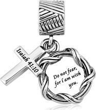 Lifequeen Cross Charm Religious Christian Holy Bible Heart Charms Bead E... - $34.75
