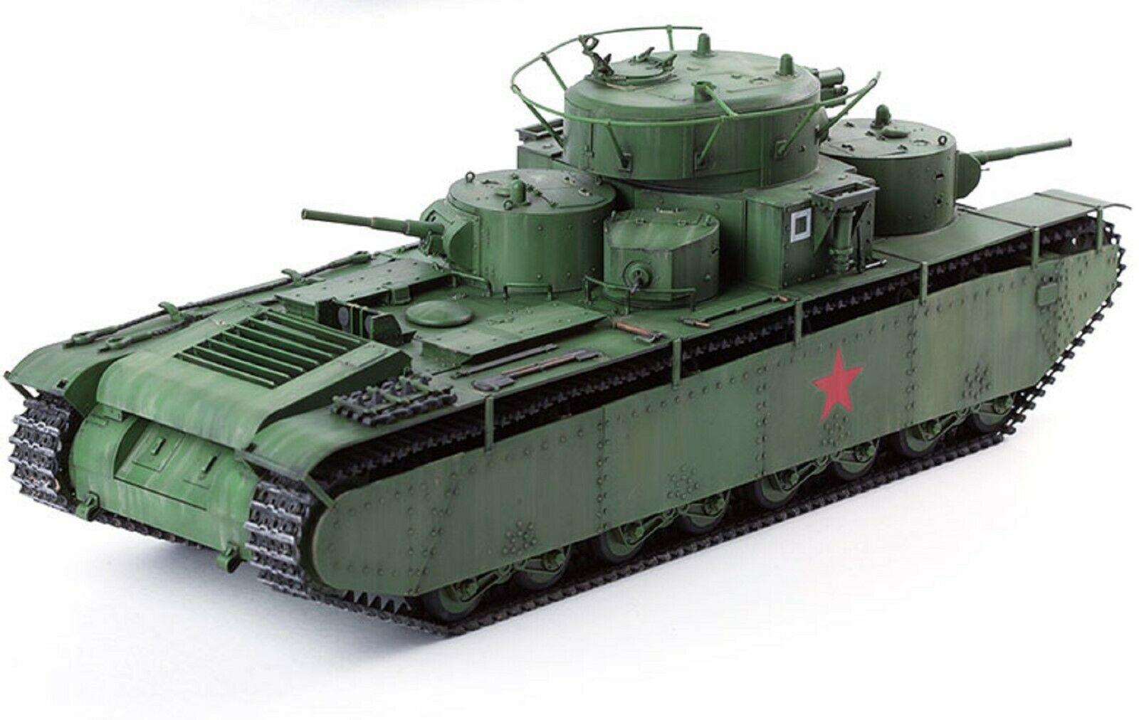 Academy 13517 1:35 Soviet Union T-35 Soviet Heavy Tank Plastic Hobby Model
