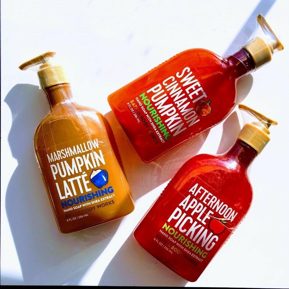 *Bath & Body Works* Fall Foodie Nourishing Hand Soaps | Apple | Pumpkin | Latte