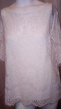 NEW Womens Covington Crochet Lace Stylish Green Stretch Top Size XL MSRP... - $19.34