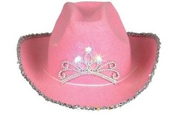 Garden Rhode Island Novelty Child Pink Blinking Tiara Cowboy Hat Top Qua... - €13,00 EUR