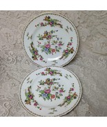 Vintage Crown Staffordshire Polychrome Gaudy BlueWillow 2pc 10.5in Dinne... - $56.95