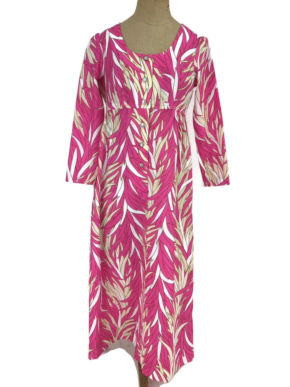 dbc4a165406b S l1600. S l1600. Previous. Vintage Ca. 1970s Sears Hawaiian Fashions  Women's Dress Hot Pink Tropical MuuMuu