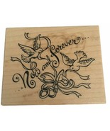 PSX Rubber Stamp Now and Forever Words Doves Couple Wedding Card Making F-2093 - $8.99