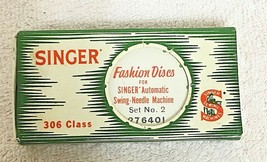 Vintage Singer Fashion Discs For Singer Auto Needle Machine Set #2  306 ... - $18.32