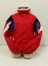 Jacket Columbia Jacket Boys Vtg Ski Fleece 90s Zip Button Front Size 18 20 - $27.85