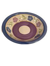 "Gibson Housewares Large 8 1/2"" Pasta Salad Serving Bowl Blue Purple Flow... - $21.97"