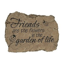 """Carson Garden Stepping Stone """"Friends Are the Flowers in the Garden of L... - $22.22"""