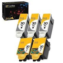 Cartlee Set of 5 Compatible 30xl High Yield Ink Cartridges for Kodak Hero 3.1 He - $31.41