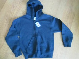#. GILDAN SIZE S BOYS HEAVY BLEND ZIP HOODED SWEAT SHIRT BLUE NWT - $12.99
