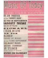 Music of Today ~ David Carr Glover ~ 1961 ~ 16 Songs - $9.85