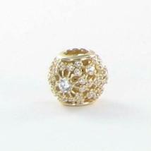 Pandora 750838CZ Charm Bead Inner Radiance Zirconia 14k Yellow Gold New ... - $300.70