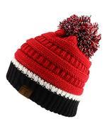 Trendy Apparel Shop Team Color Ribbed Knit Pom Pom Winter Beanie Hat - U... - $19.99
