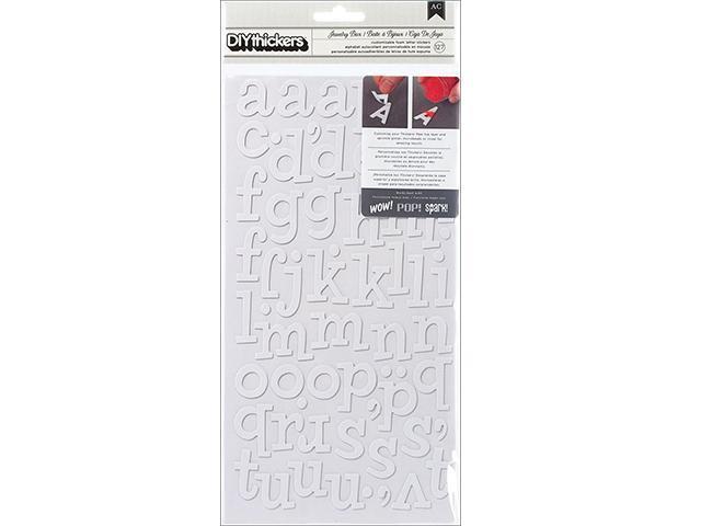 DIY Thickers Alphabet Stickers, 127 Pieces