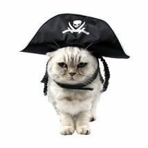 PAWZ® Pet Cat Halloween Costume Cool Skeleton Pirate Caps For Cat Dog - £5.47 GBP
