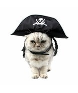 PAWZ® Pet Cat Halloween Costume Cool Skeleton Pirate Caps For Cat Dog - £5.29 GBP