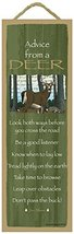"Advice from a Deer primitive wood plaque, sign - measure 5"" x 15"" size. ... - $14.99"
