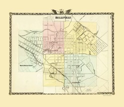 Belleville Illinois - Warner 1876 - 23.00 x 26.59 - $36.58+
