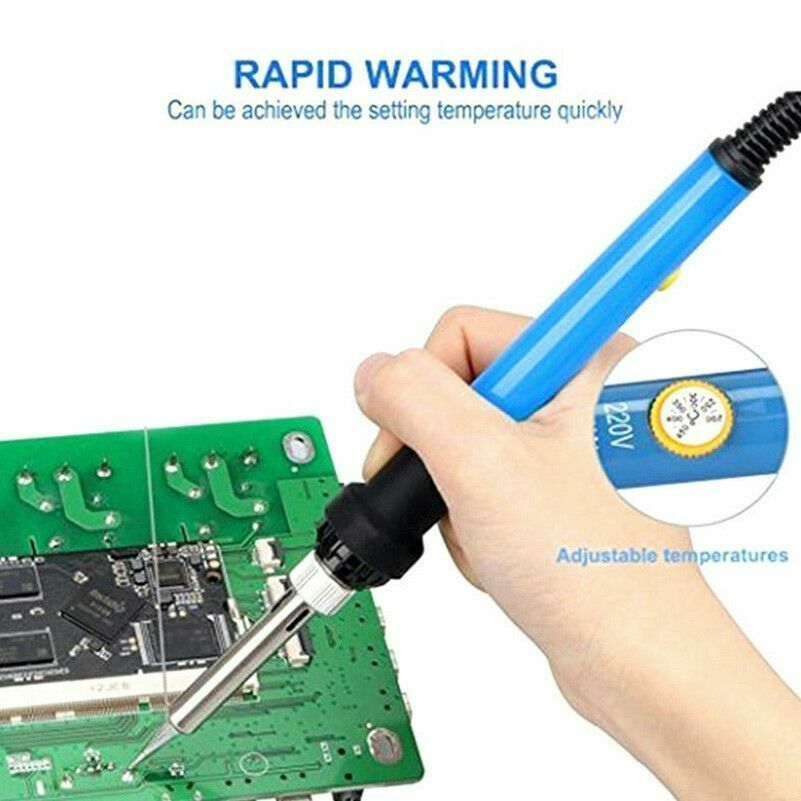 60W  220V Electric Soldering Iron  Adjustable Temperature EU Plug 220V - $9.95