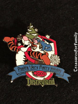 Disney LE Pin Christmas 2000 Pooh's Very Merry Holiday Tigger & Eeyore F... - $16.99